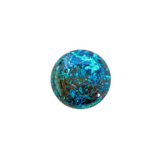 Chrysocolla round cabochon 34.90 carat by SARAHHUGHESfinegems