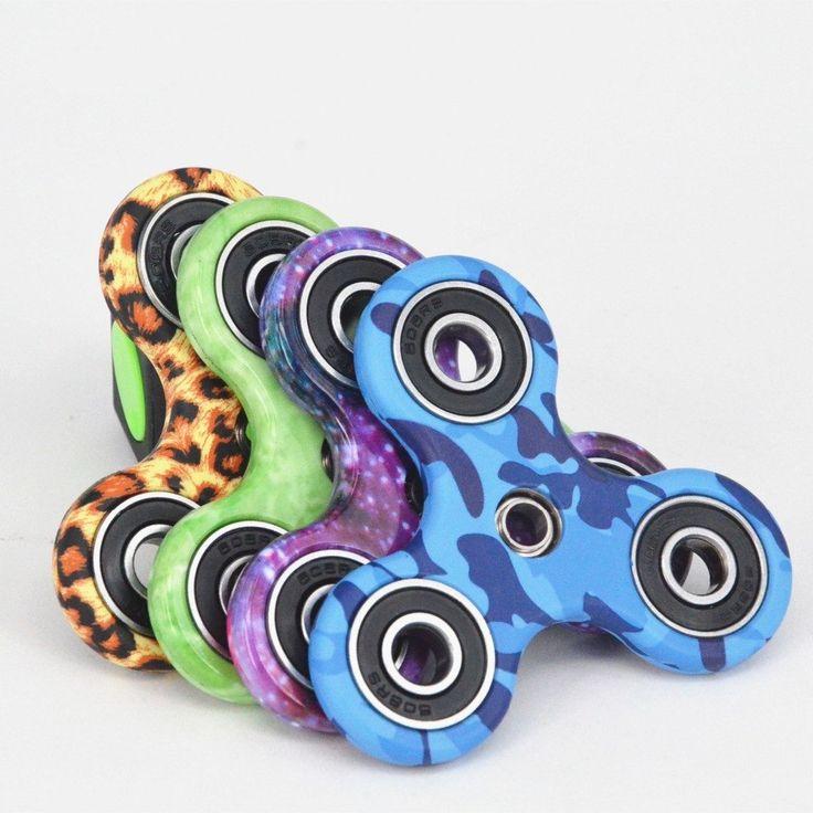 The new camouflage Hand Spinner Fingertips Spiral Fingers Fidget Spinner  EDC Hand Spinner Acrylic Plastic Fidgets Toys