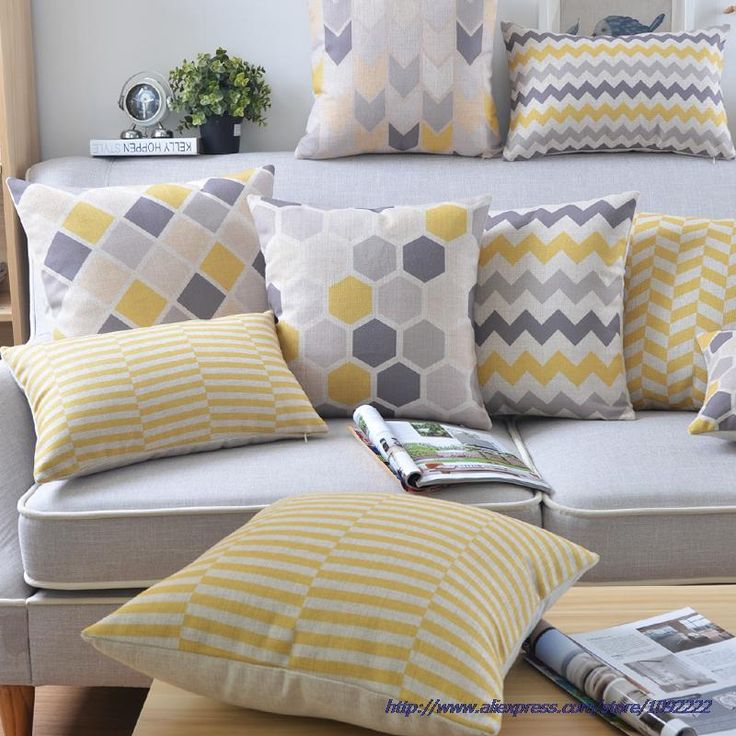 Wholesales Linen Pillow cushion Yellow Grey CushionNordico Geometric Style Home Decorative  45x45cm/30x50cm-in Cushion from Home & Garden on Aliexpress.com | Alibaba Group