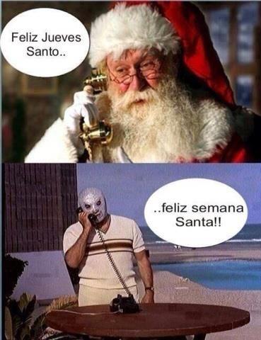 La importancia de una coma.Felíz jueves, Santo. Felíz semana, Santa.
