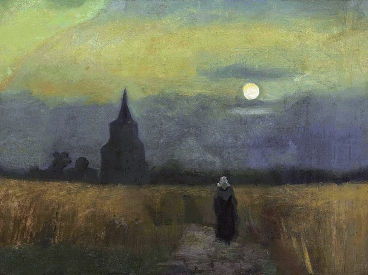 Old Tower at Sunset. Vincent van Gogh
