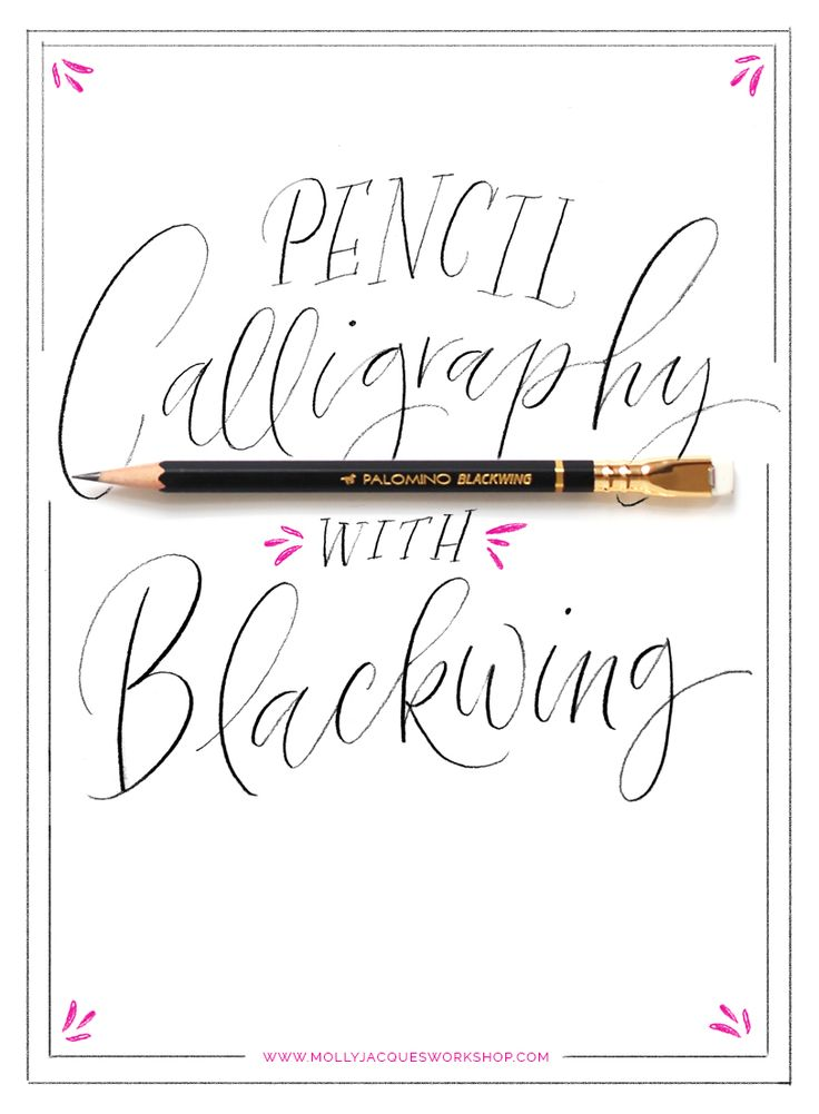 Pencil calligraphy mollyjacques fonts letters