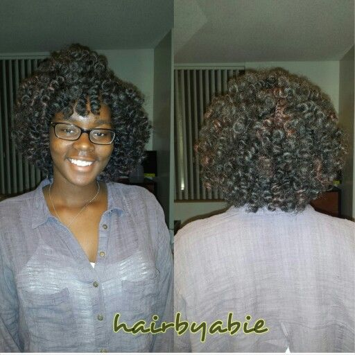 Crochet Braids Old School : Crochet braids with marley hair :)