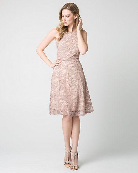 Lace Halter Party Dress