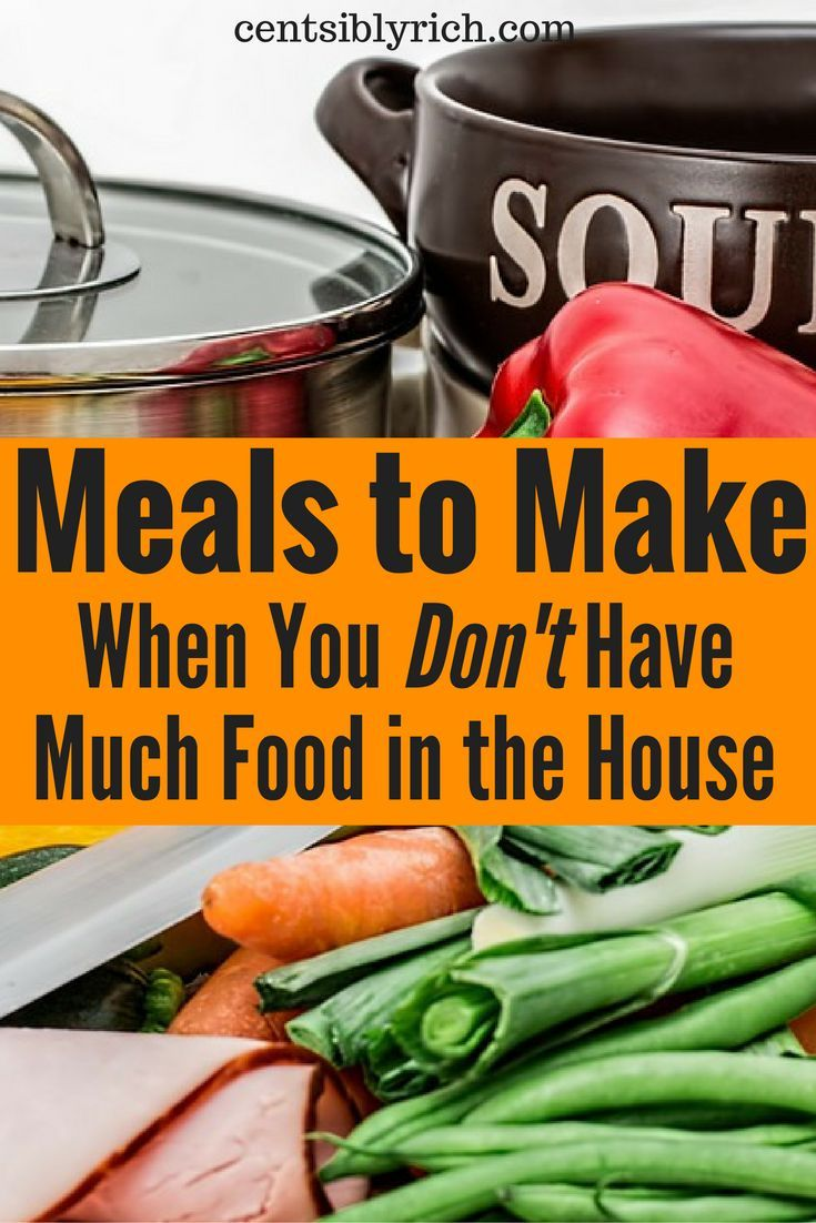 Low on food at home? Here are some meal ideas that might just work!