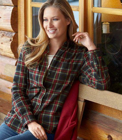 4135fad676 Women's Scotch Plaid Flannel Shirt, Relaxed in 2019 | Fall Fashion ...