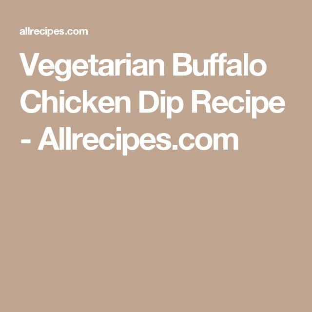 Vegetarian Buffalo Chicken Dip Recipe - Allrecipes.com