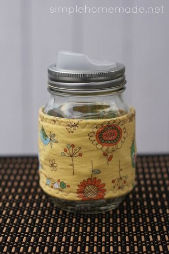 Tutorial: Mason jar cozy | The Art of Simple