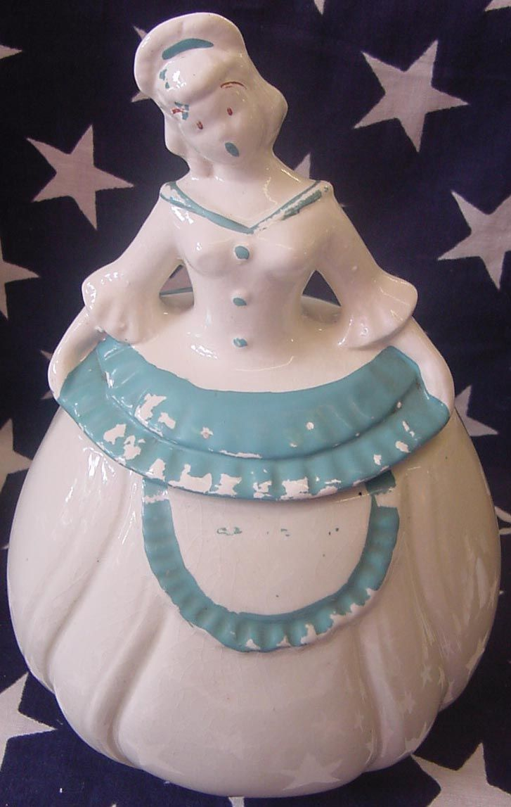 1940's  Pam American Southern Belle (Blue)Cookie Jar