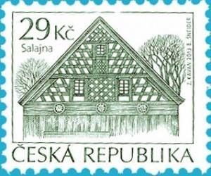 StampedeBeta - Stamp Profile - Folk Architecture –Salajna stamp from Czech Republic | Stampnews.com