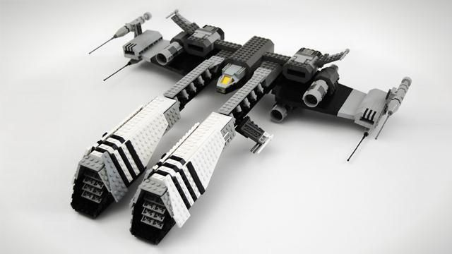 LEGO model of Rifter frigate from EVE Online (by czar) — officially under review for possible product development.