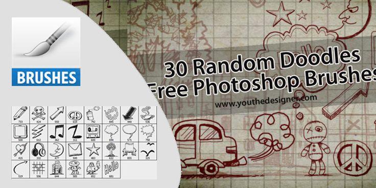 30 Random Doodles Free Photoshop Brushes