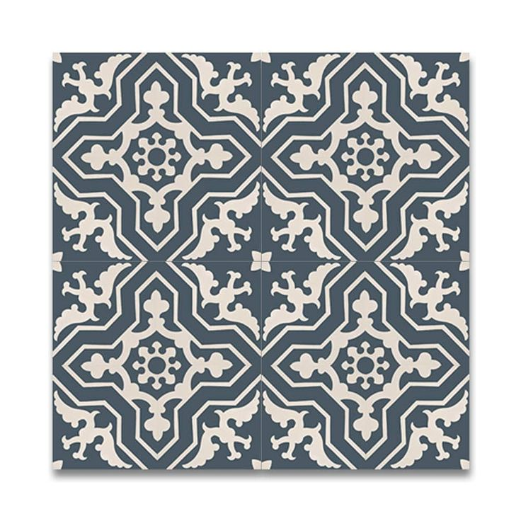 Temara Blue and White Handmade Moroccan 8 x 8 inch Cement and Granite Floor or Wall Tile (Case of 12) | Overstock.com Shopping - The Best Deals on Decorative Tiles