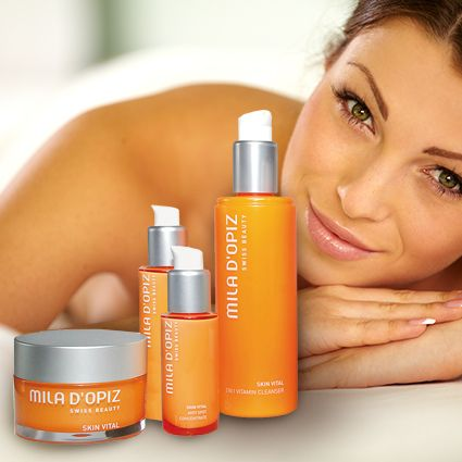 Mila d'Opiz Australia - Skin Vital. Swiss Vitamin Care. Refreshes skin with the energy & vitamins it has lost through damaging environmental impacts.