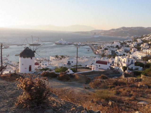 View from a lovely spot in Mykonos!