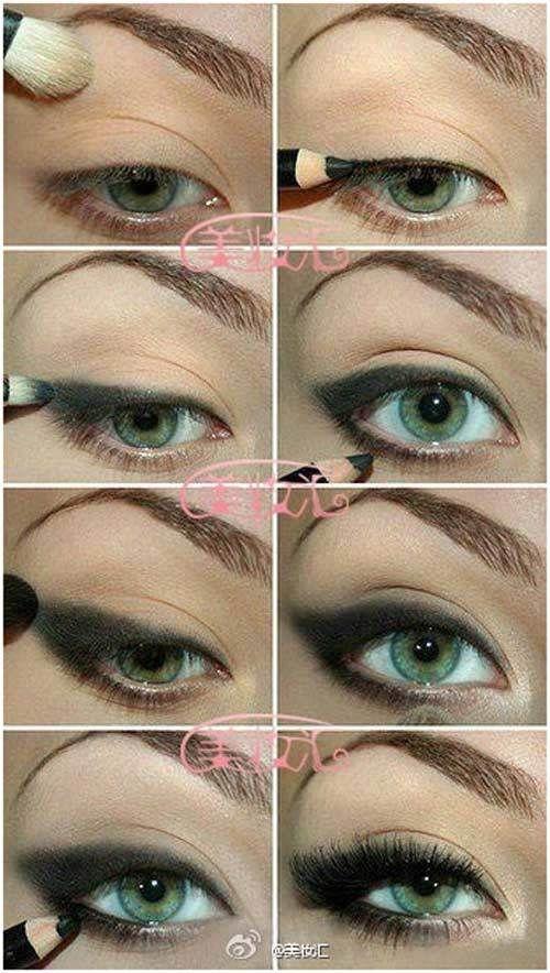 roqueiro maquiagem dos olhos