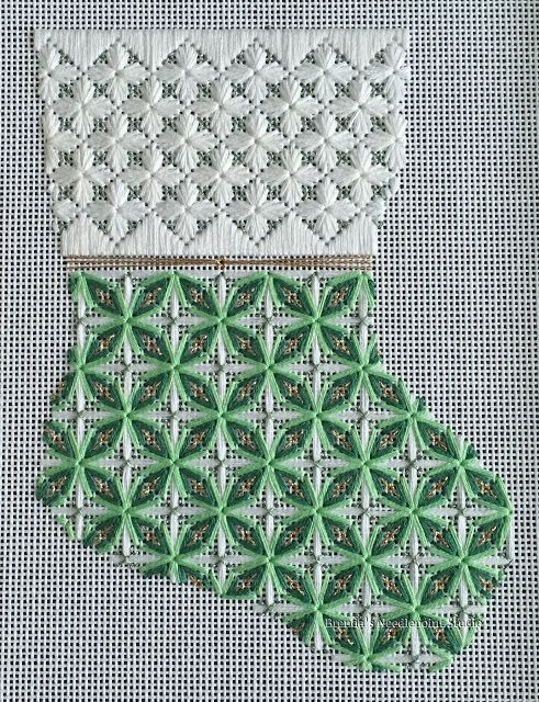 Delicate Flowers Stocking by Pat Mazu Updated 7/13/15 | Brenda's Needlepoint Studio