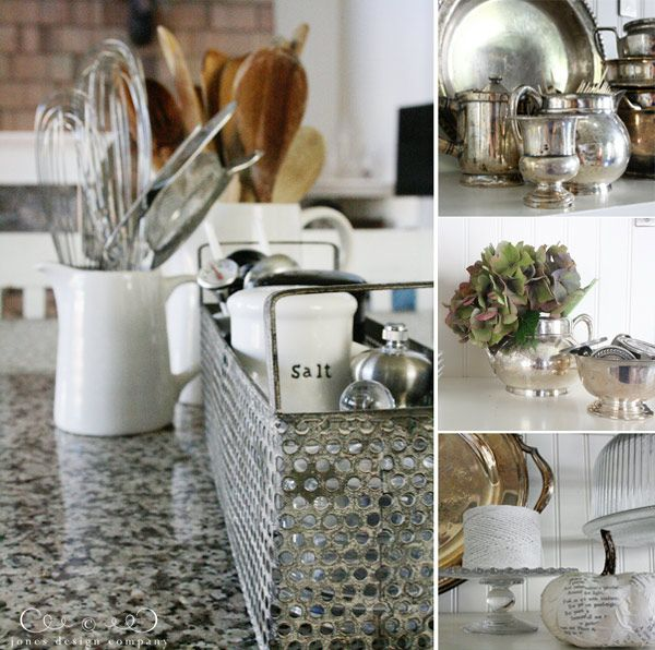 Kitchen Counter Decor Decorative Utensil Holders Vases And Plants Candles On Cake Stands