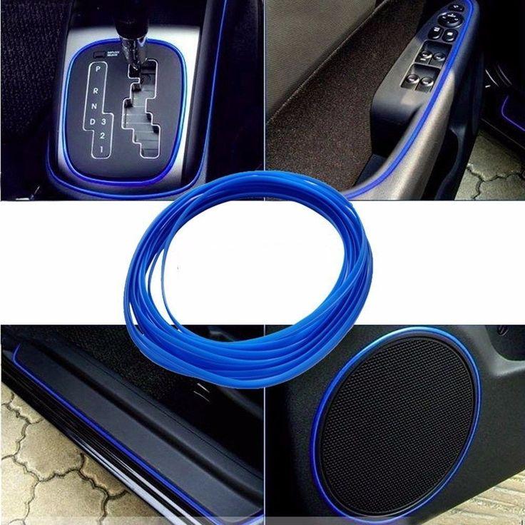 5 M/lote Car-Styling Universal DIY Línea Fría Flexible Decoración Moldeo Recorta Tiras Styling Car Sticker Accesorios