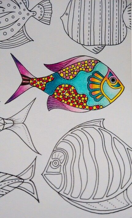 My new favorite fish from the Lost Ocean coloring book