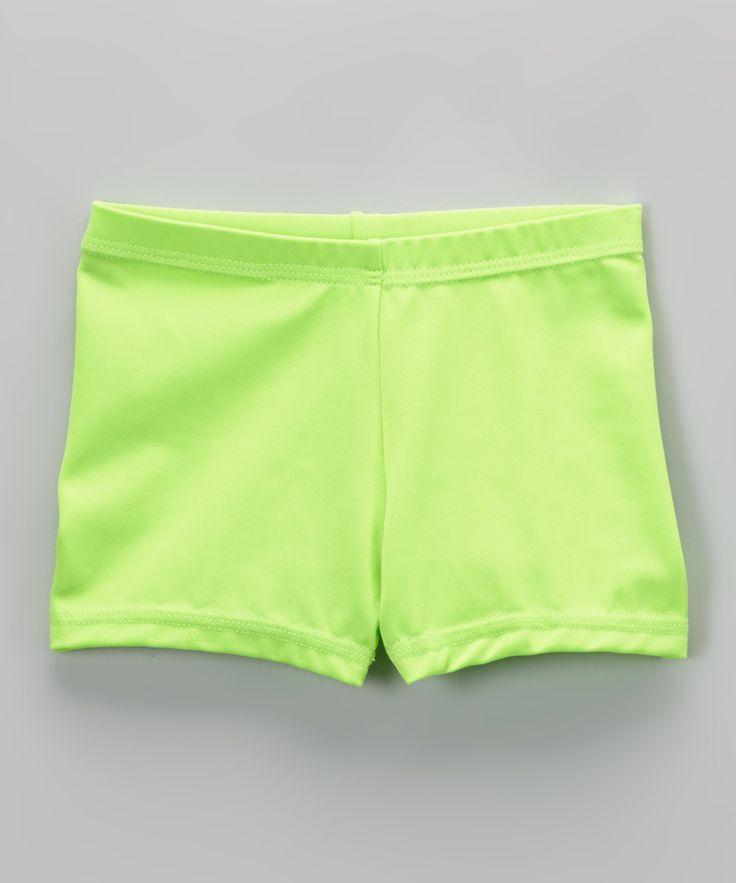Neon Green Shorts - Toddler & Girls