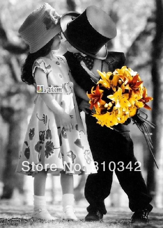 Печать на холсте картины маслом прекрасный ребенка поцелуй сладкий аватар принес вас таких любят детские воспоминания дд-6-rw ( 284 )