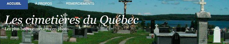 Les cimetières du Québec (Quebec cemeteries) website contains hundreds -- if not thousands -- of headstone photos. #genealogy