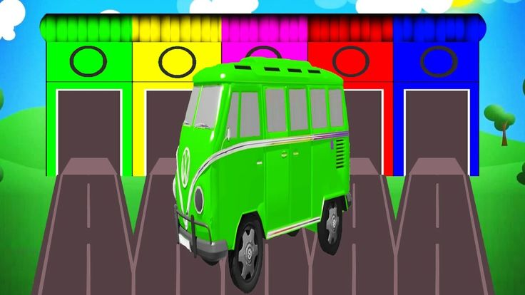 Colors for Children to Learn with Color Bus Toy - Colors Collection for ...