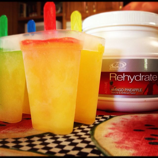Advocare Rehydrate mango pineapple popsicles! - email me at srausch34@gmail.com or visit my website :: https://www.advocare.com/130738257/default.aspx if you have any questions