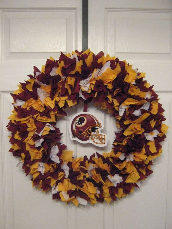 NFL Washington Redskins Fabric Wreath by burt7 on Etsy, $46.00