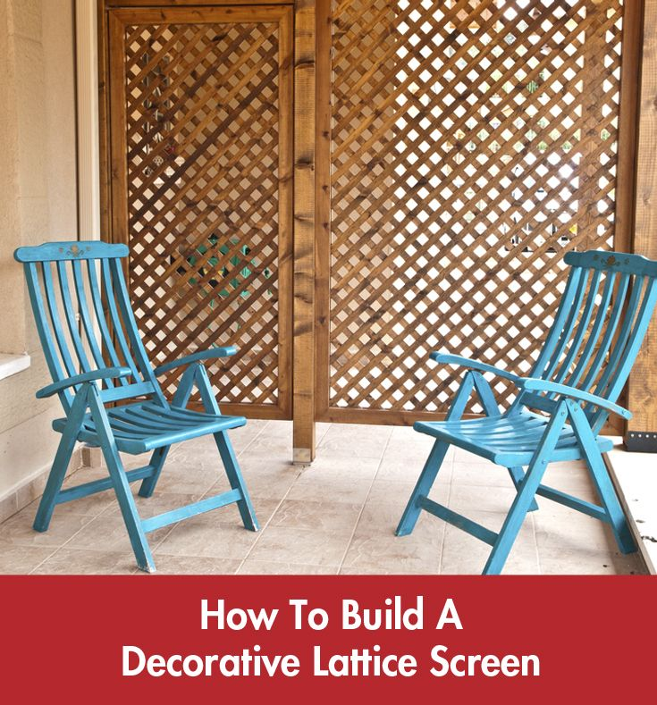 A lattice screen is an attractive addition to any garden or driveway! #Summer #DIY