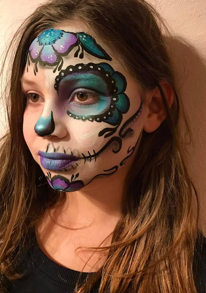 1000 id es sur le th me maquillage sugar skull sur pinterest maquillage de t te de mort - Maquillage halloween couple ...
