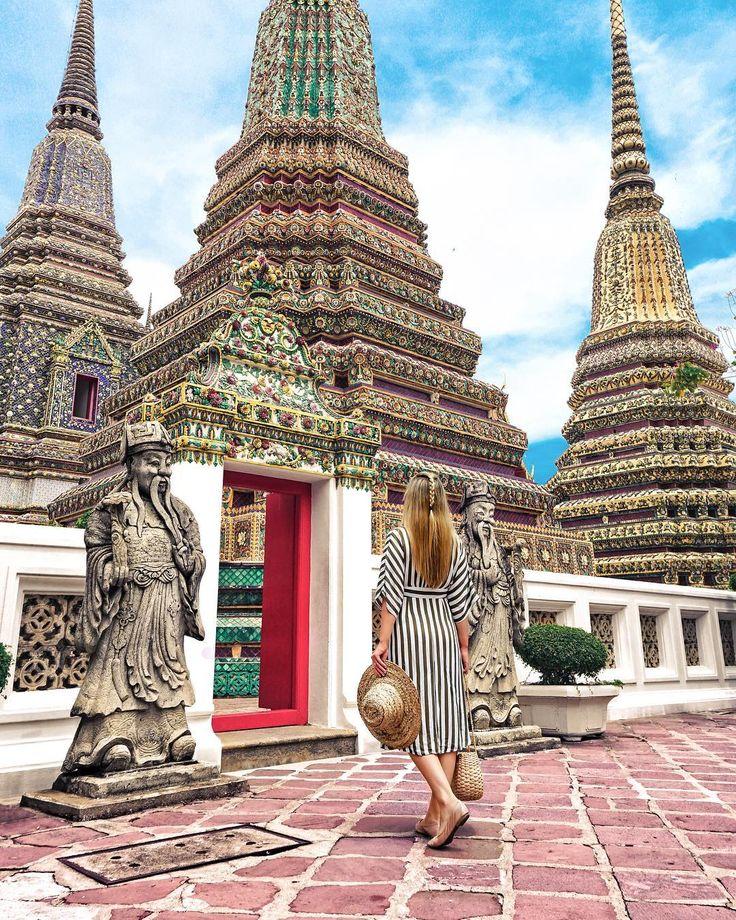 Bangkok-Wat Pho temples in Thailand