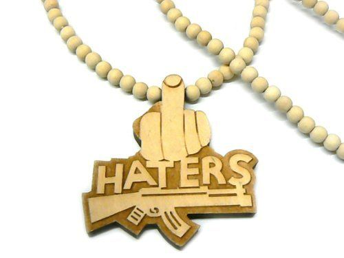 Natural Wooden Haters Pendant and 36 Inch Necklace Chain Good Quality Wood JOTW. $2.95. 100% Satisfaction Guaranteed!