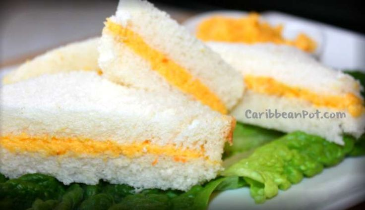 Yummy Trinidad cheese paste sandwiches! My mom always made these for us!
