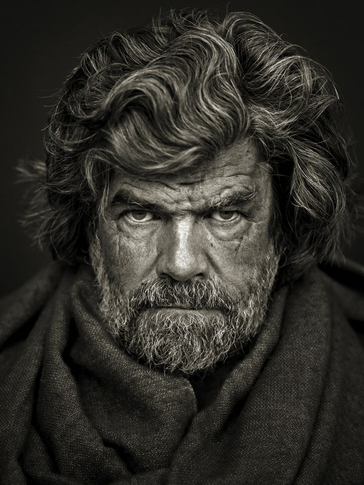 Reinhold Messner -  one of the craziest climbers and adventurers, the first man to set foot on all 14 peaks above 8000 meters, and a very inspiring individual, his books and interviews are for sure something worth checking :)