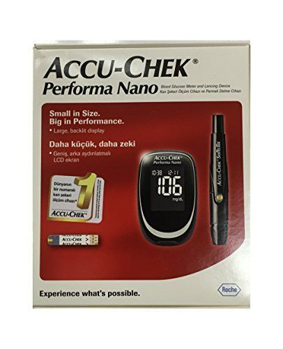 Accu Chek Check Performa Nano Glucose Monitor Sugar Level Kit with Softclix Diabetes Test * Click image to review more details.
