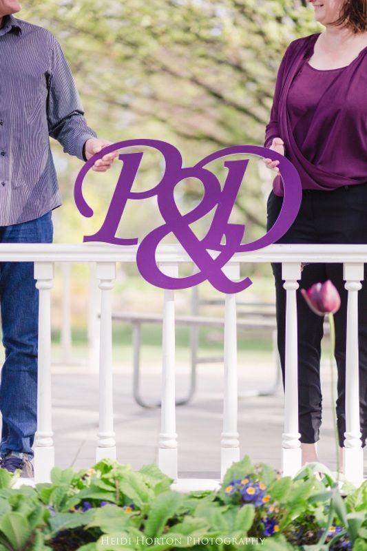 purple themed engagement portraits, cutout wedding sign, Queenstown wedding photographer, Queenstown Gardens photoshoot, Queenstown engagement photos, Queenstown Gardens, New Zealand wedding locations, Heidi Horton Photography