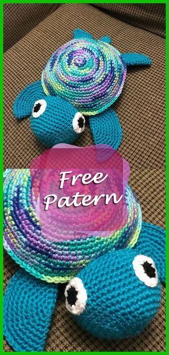 DIY – Instructions for Crocheted Turtle Amigurumi Free Pattern Tutorial #croch…