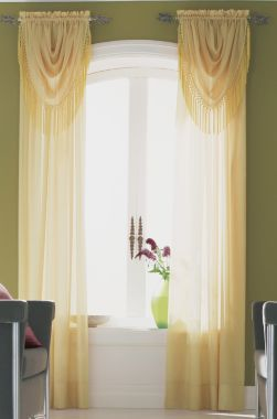1000 images about curtain rod ideas on pinterest - Curtains for olive green walls ...