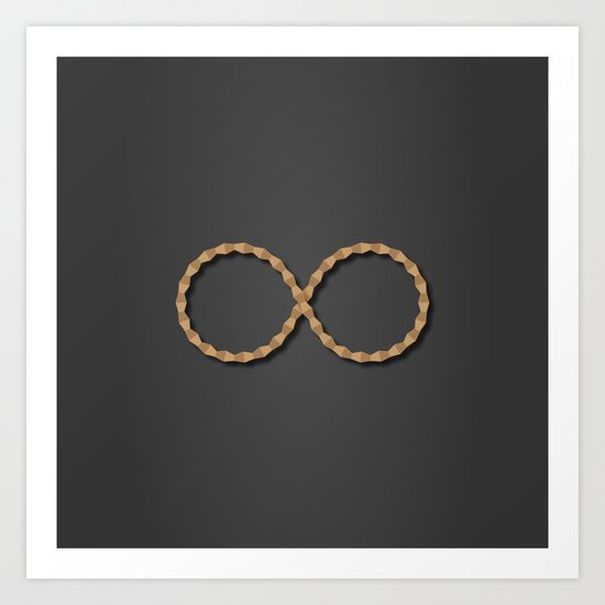 """Infinity The graphic shows the infinite sign composed of elements found in Constantin Brancusi sculpture """"Endless Column"""" (often called the Column of Infinite). It is a metaphorical approach between the sign, representing infinite, and the concept of infinity portrayed by the great artist."""