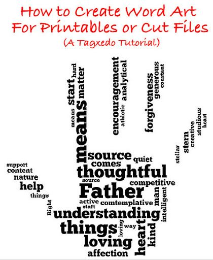 How to Create Word Art (For Printables or Cut Files) Using Tagxedo | The Kim Six Fix