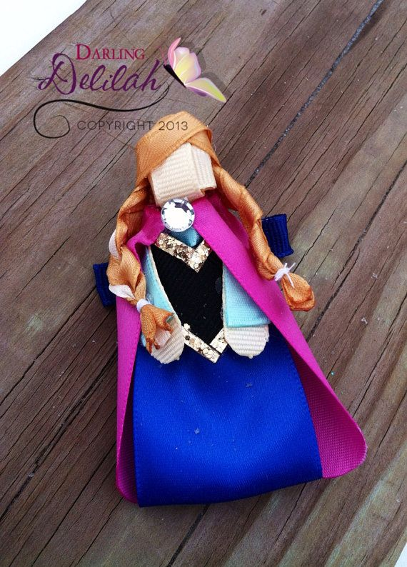 Princess Anna Ribbon Hair Clip, Frozen Hair Clip, Princess Hair Clip on Etsy, $9.50