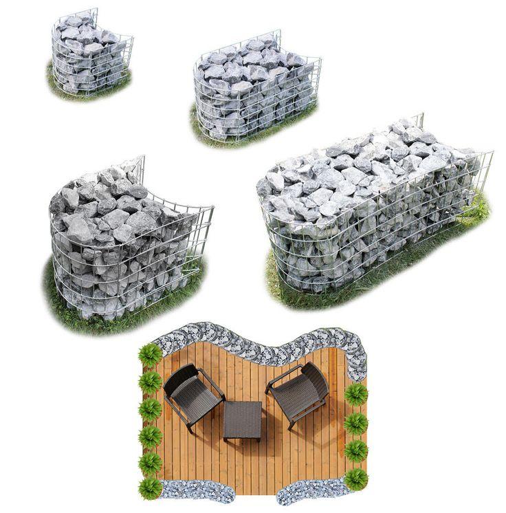 die besten 25 gabionen rund ideen auf pinterest steine. Black Bedroom Furniture Sets. Home Design Ideas