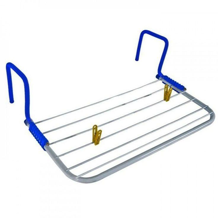 Varal Portátil Secar Roupa Pode Ser Usado Porta Janela 61,5cm X 30,5cm