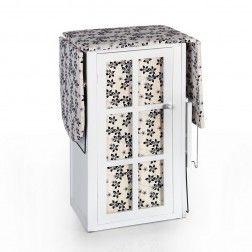 Mueble plancha madera blanco flores negras muebles para - Mueble de plancha ...