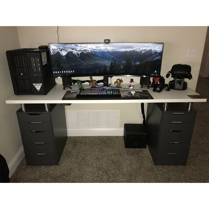 "1,761 Likes, 15 Comments - Mal - PC Builds and Setups (@pcgaminghub) on Instagram: ""I've been surprised with how fast these 32:9 monitors have become popular. I remember how long it…"""