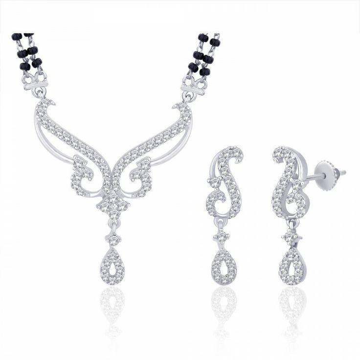 Peora | Smriti - Rhodium Plated - Mangalsutras - Women's Jewellery - Jewellery | Fine Silver Jewellery