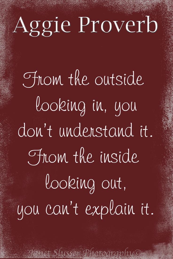 Aggie Proverb.
