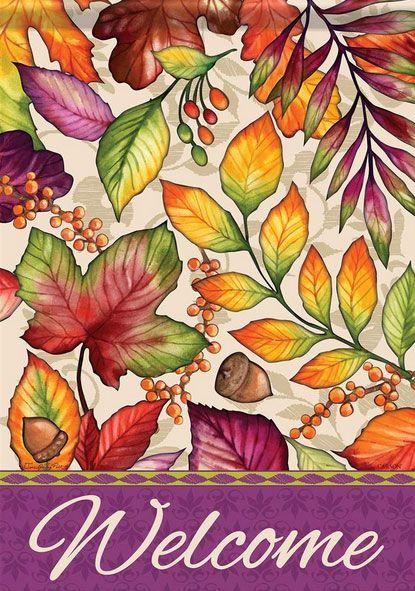 Plum Orange Leaves